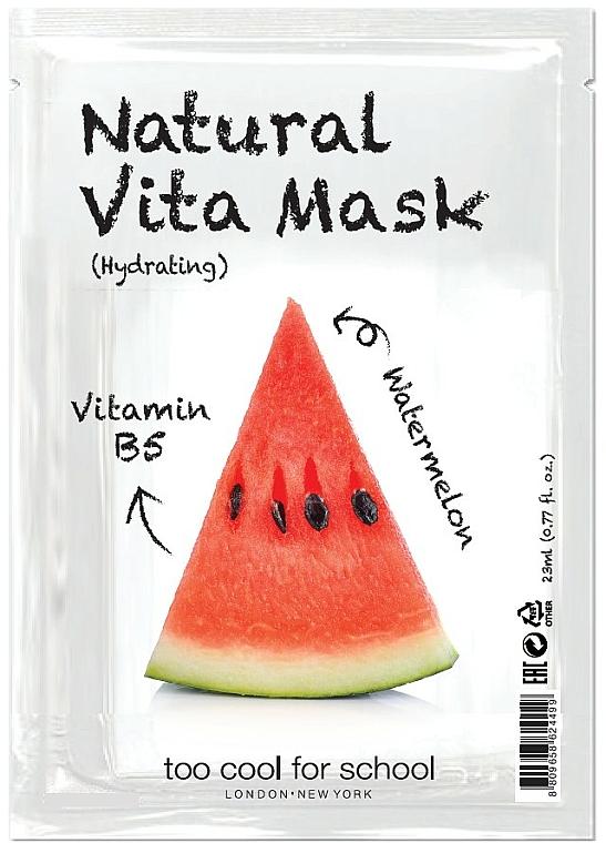 Nawilżająca maseczka w płachcie do twarzy Arbuz i witamina B5 - Too Cool For School Natural Vita Mask Hydrating — фото N1