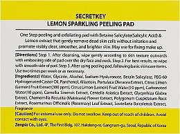 Peelingujące płatki do twarzy - Secret Key Lemon Sparkling Peeling Pad — фото N2