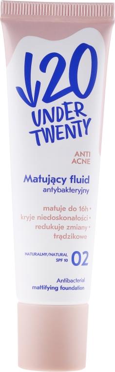Matujący fluid antybakteryjny - Under Twenty Anti! Acne