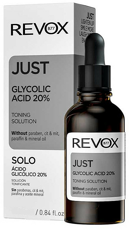 Kwas glikolowy - Revox Just Glycolic Acid 20% Toning Solution — фото N1