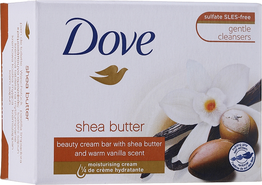 Kremowa kostka myjąca Masło shea i wanilia - Dove Purely Pampering Beauty Bar