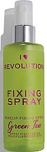 Kup Spray utrwalający makijaż - I Heart Revolution Fixing Spray Green Tea