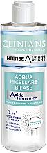 Kup PRZECENA! Dwufazowa woda micelarna Woda różana i olej arganowy - Clinians Intense A Micellar Bi-Phase Water 3in1 With Hyaluronic Acid *