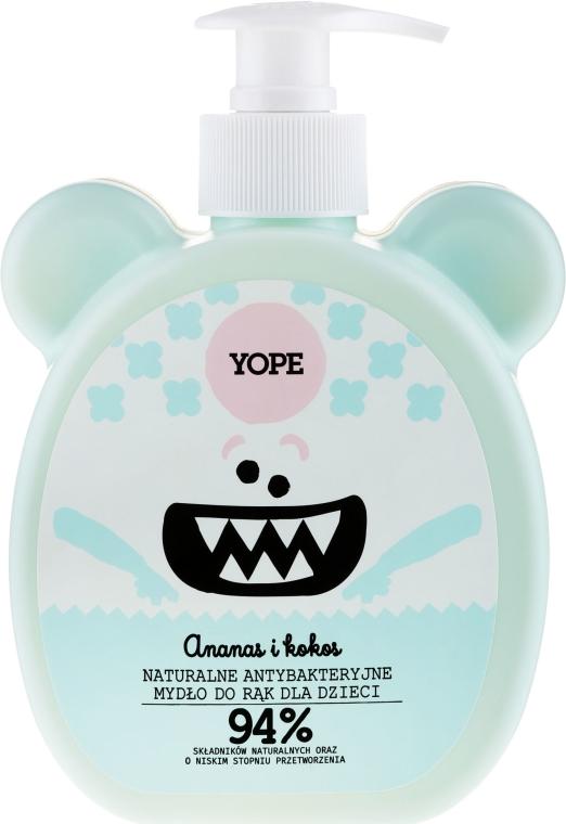 Naturalne antybakteryjne mydło do rąk dla dzieci Ananas i kokos - Yope