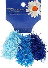 Kup Gumki do włosów 3 szt., niebieskie, 21695 - Top Choice