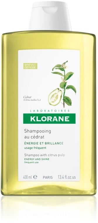 Energetyzujący szampon nadający włosom blask z miąższem cytrusowym - Klorane Shampoo With Citrus Pulp Energy And Shine — фото N2