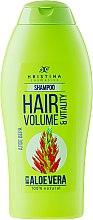 Kup Naturalny szampon dodający włosom objętości Aloes - Hristina Cosmetics Hair Volume & Vitality With Aloe Vera Shampoo