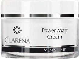 Kup Lekki krem matujący do twarzy dla mężczyzn - Clarena Men's Line Power Matt Cream