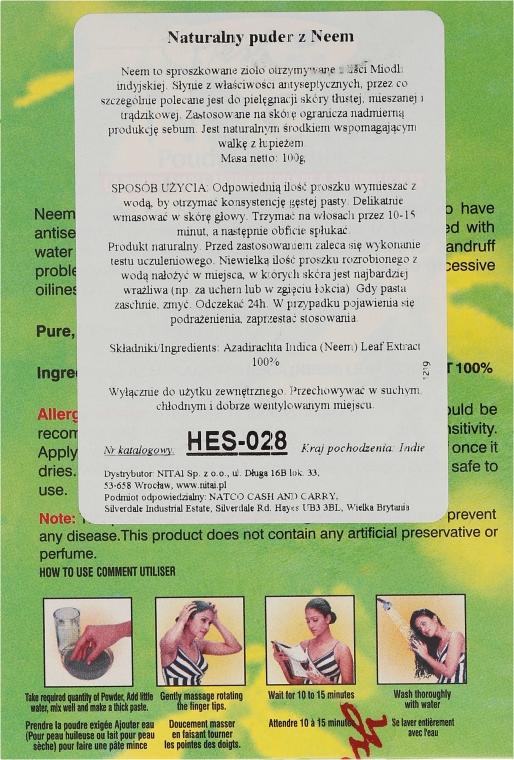 Przeciwłupieżowy proszek antybakteryjny do włosów - Hesh Neem Leaves Powder — фото N3