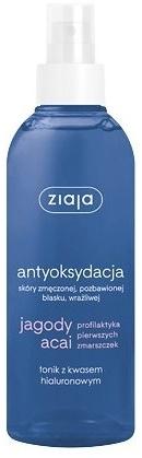 Tonik z kwasem hialuronowym - Ziaja Jagody acai