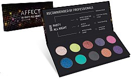 Kup Paletka prasowanych cieni do powiek - Affect Cosmetics Party All Night Eyeshadow Palette