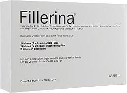 Kup Dermokosmetyczna kuracja wypełniająca, stopień 1 - Fillerina Dermo-Cosmetic Filler Treatment Grade 1 (gel/30ml + cr/30ml + applicator/2szt)