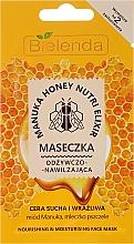 Kup Odżywczo-nawilżająca maseczka do twarzy Miód Manuka i mleczko pszczele - Bielenda Manuka Honey Nutri Elixir Mask