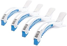 Kup Zaciski do włosów, biało-niebieskie - Dajuja Penguin Clip White-Blue