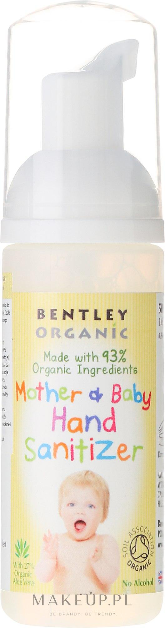 Antybakteryjna pianka do dezynfekcji rąk dla mamy i dziecka - Bentley Organic Mother & Baby Hand Sanitizer — фото 50 ml