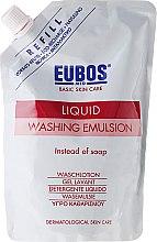 Kup Bezalkaiczna emulsja myjąca do ciała o świeżym zapachu - Eubos Med Basic Skin Care Liquid Washing Emulsion Red (uzupełnienie)