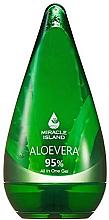 Kup Aloesowy żel 95% do twarzy, ciała i włosów - Miracle Island Aloevera 95% All In One Gel