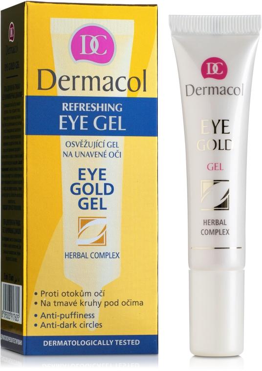Odświeżający żel redukujący cienie pod oczami - Dermacol Eye Gold Gel