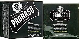 Kup Odświeżające chusteczki do twarzy i brody - Proraso Cypress & Vetyver Refreshing Tissues