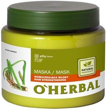 Maska wzmacniająca włosy z ekstraktem z korzenia tataraku - O'Herbal