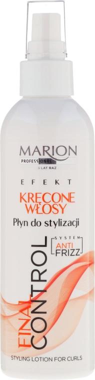 Płyn do stylizacji włosów kręconych - Marion Professional Final Control