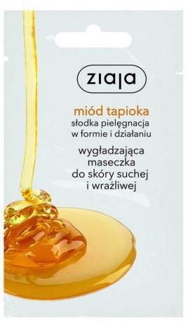 Wygładzająca maseczka do skóry suchej i wrażliwej Miód tapioka - Ziaja