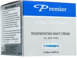 Kup Regenerujący krem na noc z kwasem hialuronowym i olejami arganowym i tsubaki - Premier Dead Sea Regenerating Night Cream