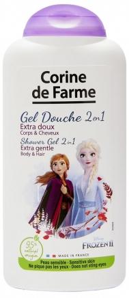 Delikatny szampon i żel pod prysznic dla dzieci Kraina lodu - Corine de Farme Frozen Hair & Body Shower Gel