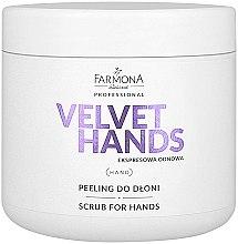 Kup Peeling do dłoni z lilią - Farmona Professional Velevet Hands Scrub For Hands