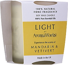 Kup Świeca zapachowa Mandarynka i wetiweria - AromaWorks Light Range Mandarin & Vetivert Candle