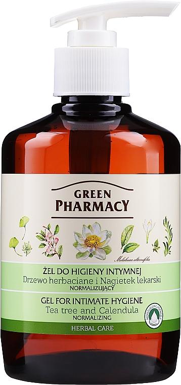 Normalizujący żel do higieny intymnej Drzewo herbaciane i nagietek lekarski - Green Pharmacy Body Care