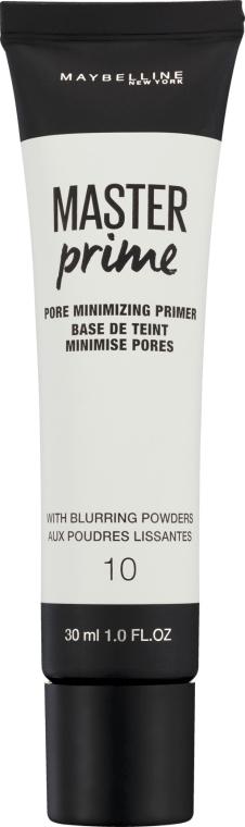 Baza pod makijaż minimalizująca widoczność porów - Maybelline Master Prime 10 With Blurring Powders
