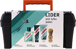 Kup PRZECENA! Zestaw - Lider Classic Tool Box Set (ash/lot 100 ml + sh/cr 65 g + ash/balm 100 ml + sh/brush + case) *