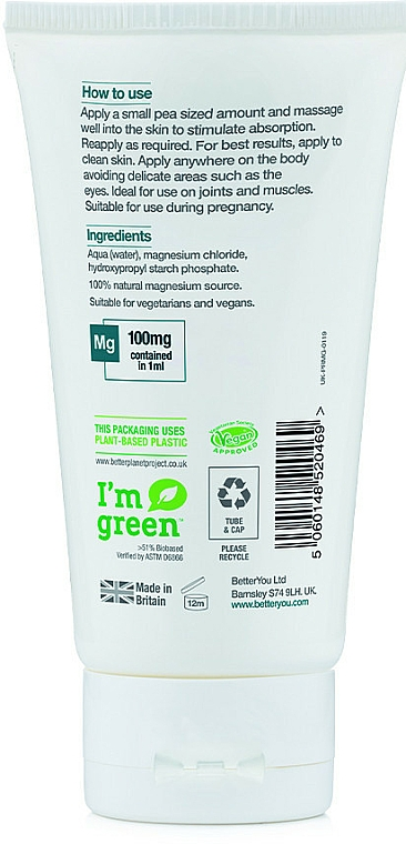 Żel do ciała - BetterYou Magnesium Body Gel — фото N2