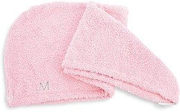 Kup Pudrowo-różowy ręcznik-turban do włosów (68 x 26 cm) - Makeup