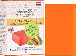 Kup Mydło w koscte z ekstraktem z papai - Sabai Thai Herbal Papaya Soap