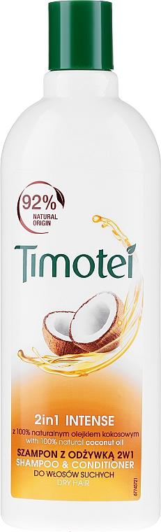 Szampon i odżywka 2 w 1 z olejem kokosowym Intensywna pielęgnacja - Timotei 2 in 1 Intense Shampo & Conditioner