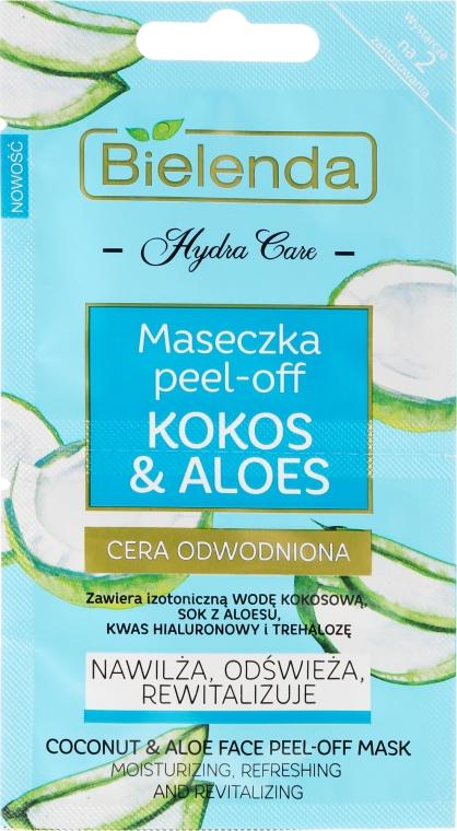 Maseczka peel-off do cery odwodnionej Kokos i aloes - Bielenda Hydra Care