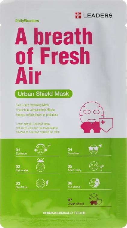 Dotleniająca maseczka do twarzy - Leaders Urban Shield Mask — фото N1