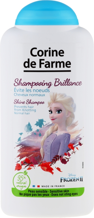 Hipoalergiczny nabłyszczający szampon ułatwiający rozczesywanie włosów dla dzieci Elsa - Corine de Farme Disney Princess Shampoo
