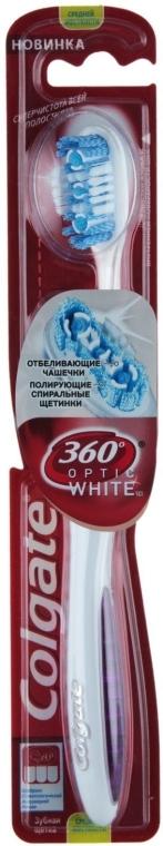 Szczoteczka do zębów 360 Optic White, fioletowa - Colgate — фото N1