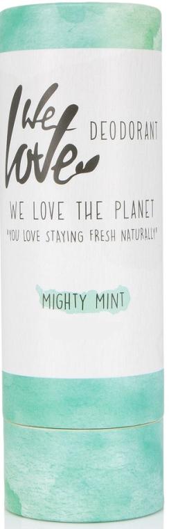 Hipoalergiczny dezodorant w sztyfcie odświeżający - We Love The Planet Mighty Mint Deodorant Stick — фото N1