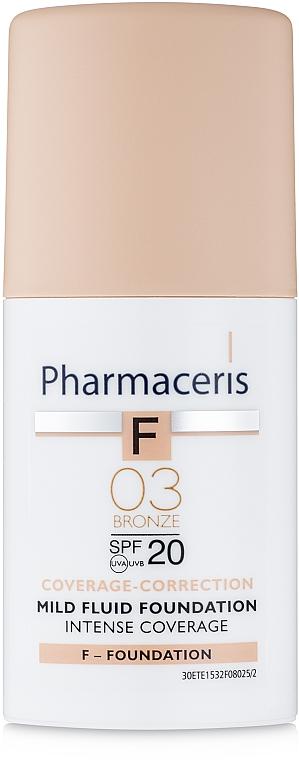 Delikatny fluid intensywnie kryjący SPF 20 - Pharmaceris F