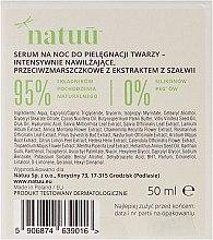 Intensywnie nawilżające przeciwzmarszczkowe serum na noc z ekstraktem z szałwii czerwonej - Natuu Smooth & Lift — фото N3