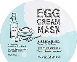 Kup Maseczka w płachcie do twarzy zwężająca pory - Too Cool For School Egg Cream Mask Pore Tightening