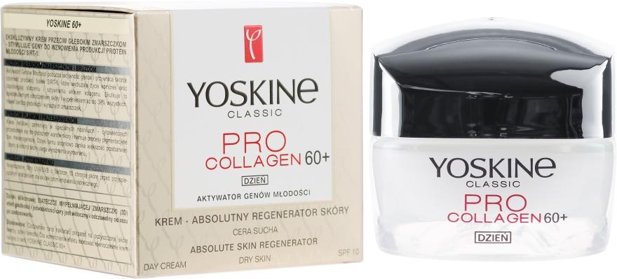 Krem do cery suchej i wrażliwej Absolutny regenerator skóry 60+ - Yoskine Classic Pro Collagen Absolute Skin Regenerator Day Cream