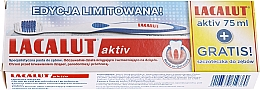 Kup Zestaw - Lacalut Activ Paradontosis (t/past/75ml + t/brush/1pcs)