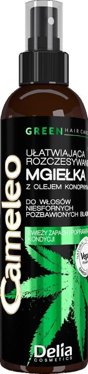 Ułatwiająca rozczesywanie mgiełka z olejem konopnym - Delia Cosmetics Cameleo Green — фото N1