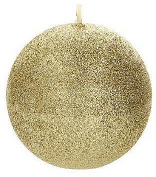 Świeca dekoracyjna, złota kula, 8 cm - Artman Glamour — фото N1