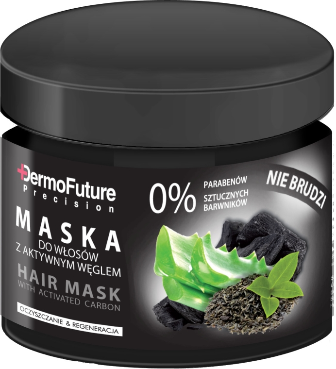 Maska do włosów z aktywnym węglem - DermoFuture Hair Mask With Activated Carbon